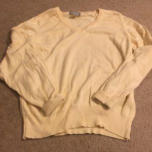 ✨ VTG Crewneck Knit Sweater Yellow Pastel V-neck S